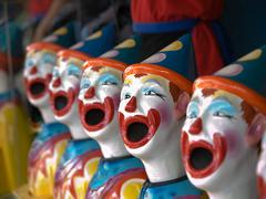 Ceramic Clowns Stock Photos