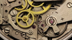 Stock Video Footage of Watch Chronometer Mechanism 1