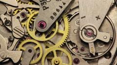 Stock Video Footage of Watch Chronometer Mechanism 2