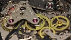 Stock Video Footage of Watch Chronometer Mechanism 7