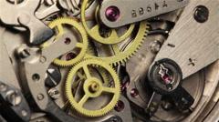 Stock Video Footage of Watch Chronometer Mechanism 6