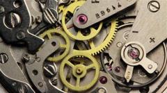Stock Video Footage of Watch Chronometer Mechanism 9