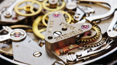 Clock Mechanism chronometer Rotation 2 Stock Footage