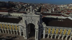 Stock Video Footage of Augusta Arch in Lisbon, Portugal