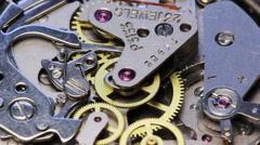 Stock Video Footage of Clock Mechanism chronometer Rotation 1
