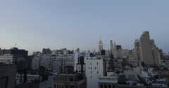 NYC Rooftop Timelapse with Empire State Building Stock Footage