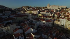 Amazing Skyline from Alfama in a beautiful day, Lisbon, Portugal Stock Footage