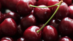 Rotating Ripe Cherries 8 Stock Footage