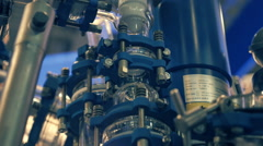 Equipment of the laboratory for the production of promising innovative materials - stock footage