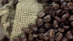 Stock Video Footage of Coffe Beans (not loopable, 4K)