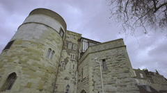 Ancient Tower of London Stock Footage