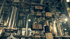 Equipment of chemical plant for the production of promising innovative materials Stock Footage