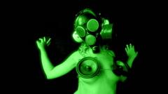 Gasmask erotic sexy gogo dancer freaky Stock Footage