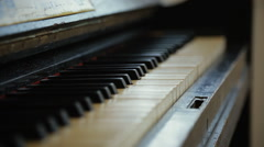 Old Piano 2 Stock Footage