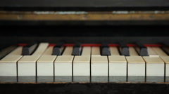 Old Piano - two clips - stock footage