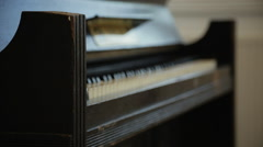 Old Piano 1 - stock footage