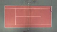 Lawn Tennis Aeria  shoot. Stock Footage