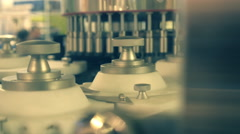 Zone automated conveyor lines involved in the packaging of drugs Stock Footage