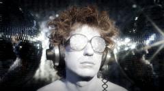 silver man gogo dancer diva party disco music - stock footage