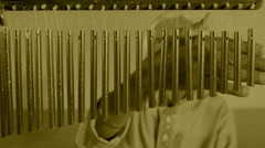 Chimes percussion indian music performer art beats Stock Footage