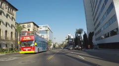 Driving Sunset Boulevard Late Afternoon- Hollywood CA Stock Footage