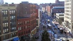 Portland, ME Downtown Stock Footage