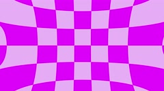 Abstract checkerboard geometric warped motion background loop pink Stock Footage