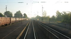 Train point of view Stock Footage