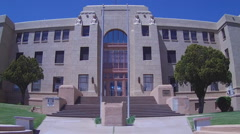 Grant County New Mexico Court House Close Up- Silver City New Mexico Stock Footage