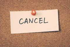 cancel - stock photo
