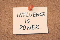 Influence is power Stock Photos