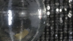 discoball disco club music party entertainment - stock footage