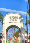 Universal Studios of Hollywood Entrance - stock photo