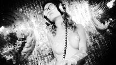 dancer sexy babe gogo diva party disco woman - stock footage