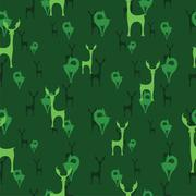 Stock Illustration of Deer vector art background design for fabric and decor. Seamless pattern