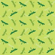 Stock Illustration of Dragonfly vector art background design for fabric and decor. Seamless pattern