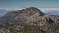 Mallorca mountains mist clouds timelapse Stock Footage