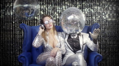 disco mr discball party music club entertainment comedy - stock footage