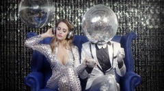 Disco mr discball party music club entertainment comedy Stock Footage