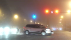 Fully smog of traffic flow in Coquitlam BC Canada Stock Footage