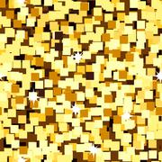 Gold sparkle glitter seamless background Stock Illustration