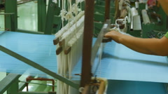 People are silk weaving in Thailand Arkistovideo