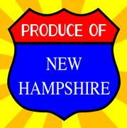 Produce Of New Hampshire - stock illustration