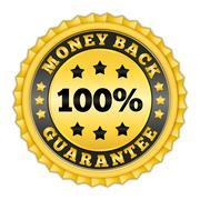 Money back guarantee - stock illustration