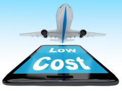 Low Cost Flight concept - stock illustration