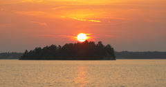 Amazing view of the sky on sunset at Killbear Provincial Park Stock Footage