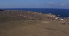 Aerial view of famara beach lanzarote canary island Stock Footage