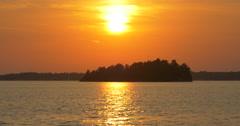 Amazing sundown and reflection of light at Killbear Provincial Park Stock Footage
