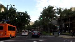 Hyper Lapse Waikiki POV Stock Footage