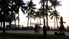 Waikiki Beach POV Stock Footage